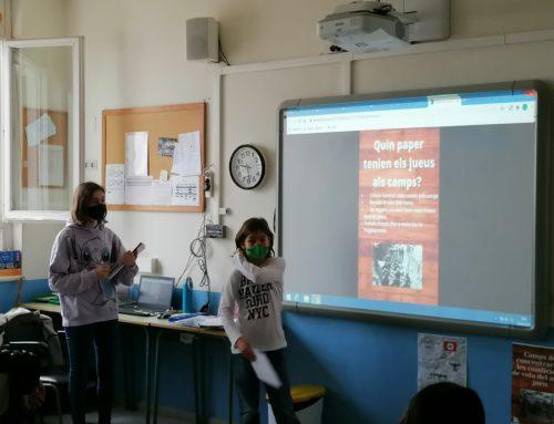 L'alumnat de sisè hem exposat els treballs de recerca sobre la Segona Guerra Mundial